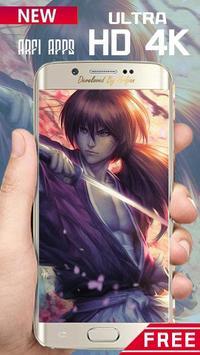 Rurouri Kenshin Samurai Wallpaper HD screenshot 3