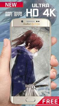 Rurouri Kenshin Samurai Wallpaper HD poster