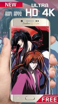 Rurouri Kenshin Samurai Wallpaper HD screenshot 7