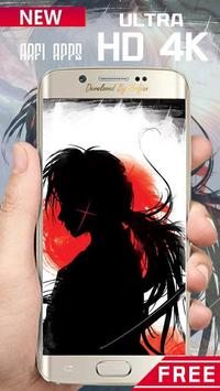 Rurouri Kenshin Samurai Wallpaper HD screenshot 4