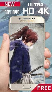 Rurouri Kenshin Samurai Wallpaper HD screenshot 8