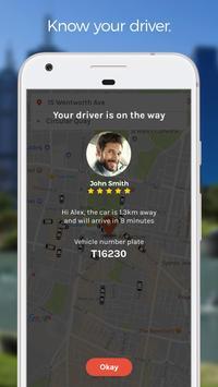 Rydo - Australia's taxi app apk screenshot