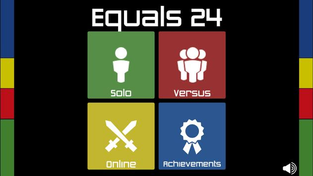 Equals 24 poster
