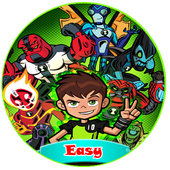 how to draw easy ben 10 icon