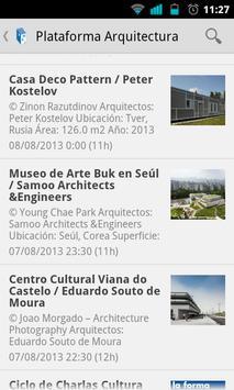 Plataforma Arquitectura Reader captura de pantalla 1