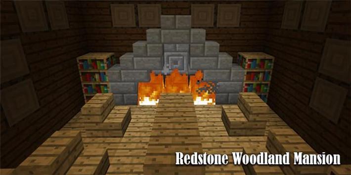 Map Redstone Woodland Mansion Minecraft poster