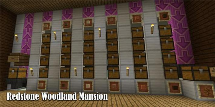 Map Redstone Woodland Mansion Minecraft screenshot 1