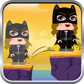 Cat Jump legO Blocky Woman Free Game icon