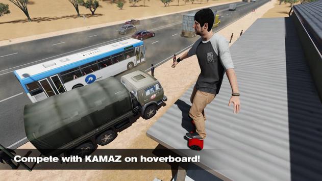 Racing Hoverboard vs Kamaz apk screenshot