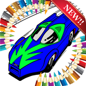 Racing Wheels Coloring Games icon