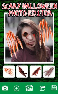 Scary Halloween Photo Editor poster