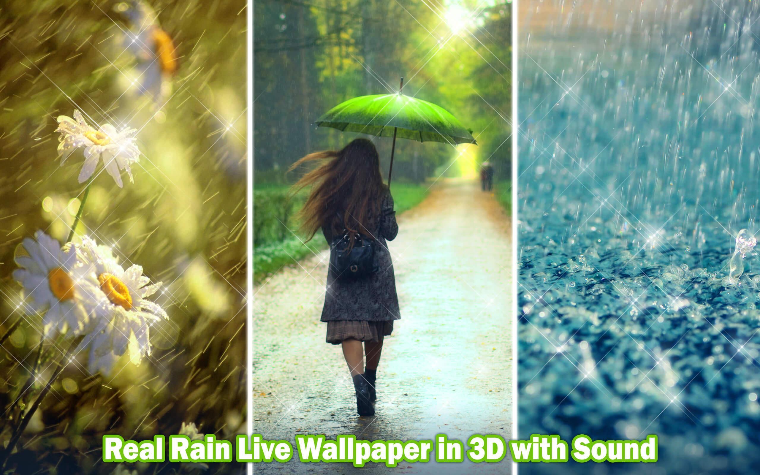 Hujan Wallpaper Hidup Suara ☔ Tema Tetes Air For Android