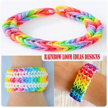 Rainbow loom ideas designs poster