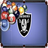 Billiards Raiders Oakland Theme icon