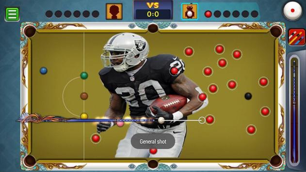 Billiards Raiders Oakland Theme screenshot 4