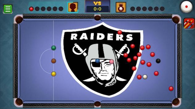 Billiards Raiders Oakland Theme screenshot 5