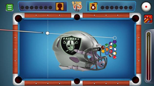 Billiards Raiders Oakland Theme screenshot 1