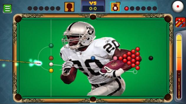 Billiards Raiders Oakland Theme screenshot 2