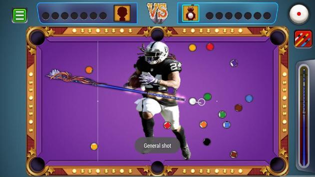 Billiards Raiders Oakland Theme screenshot 3