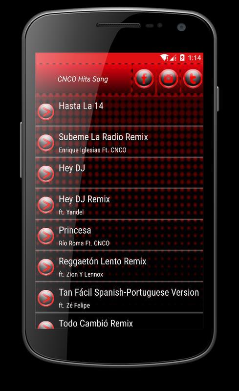 ... CNCO - Hey DJ Musica apk screenshot ...