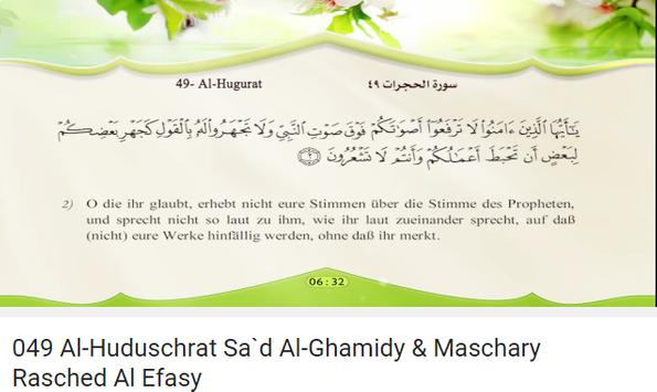 Quran German Translation poster
