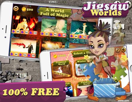 Jigsaw Worlds Free Puzzle poster