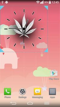 Rasta Weed Clock Widget apk screenshot