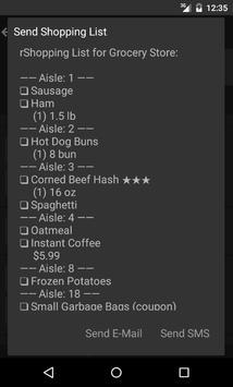 rShopping List - Grocery List apk screenshot