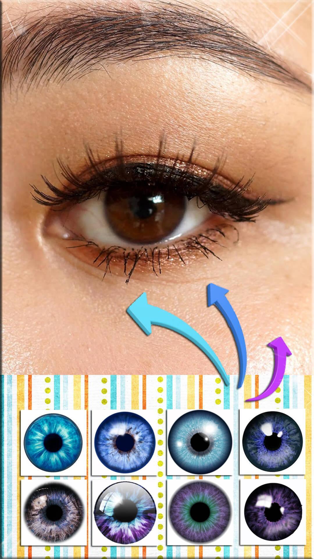 Фото где можно изменить цвет глаз