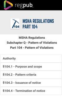 MSHA Part 104 poster