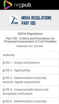 MSHA Part 100 poster