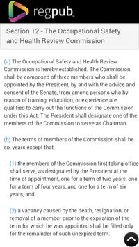 OSH Act of 1970 apk screenshot