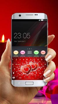 Red Keyboard Hearts of Love screenshot 1