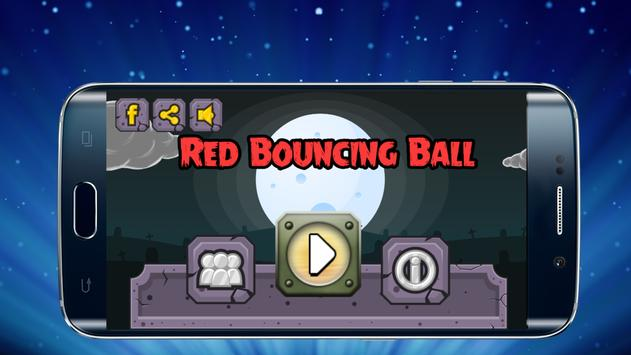 Red bouncing ball poster