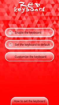 Red Keyboard Skins apk screenshot