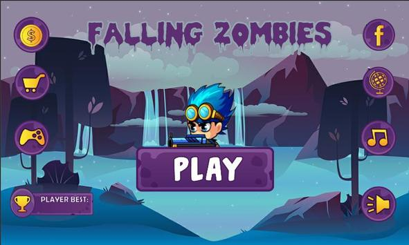 Falling Zombie poster