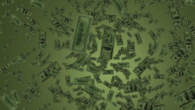 Money Rain Live Wallpaper Poster Screenshot 1