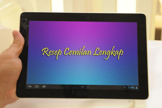 Resep Cemilan Lengkap apk screenshot