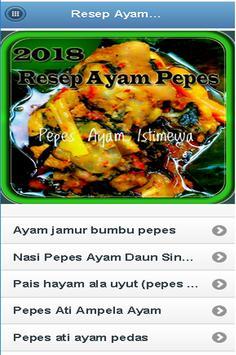 Resep Ayam Pepes poster