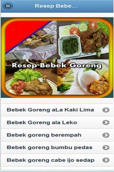 Resep Bebek Goreng poster