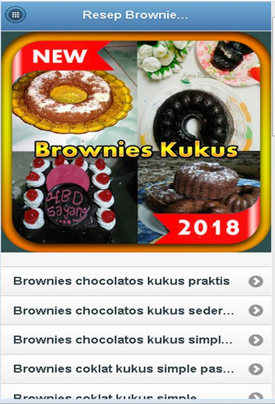 Resep Brownies Kukus Sederhana For Android Apk Download