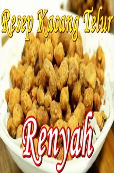 Resep Kacang Telur Renyah Poster