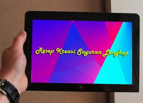 Resep Kreasi Sayuran apk screenshot