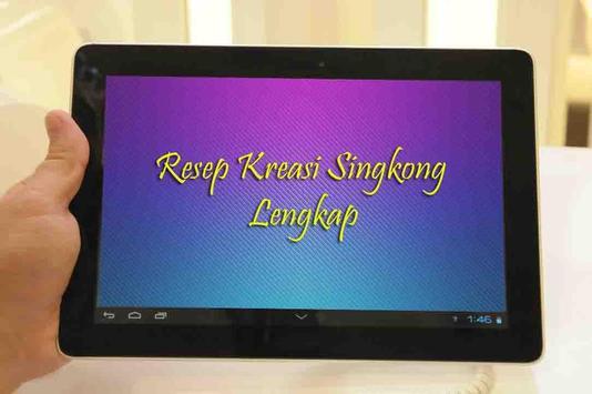 Resep Kreasi Singkong Lengkap apk screenshot