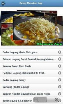Resep Masakan Jagung screenshot 1