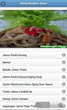 Resep Masakan Jamur screenshot 1