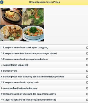 Resep Masakan Selera Pedas apk screenshot