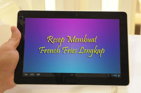 Resep Membuat French Fries apk screenshot