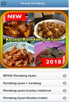 Resep Rendang Ayam Terbaru 2018 poster
