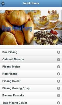 Resep Aneka Pisang apk screenshot
